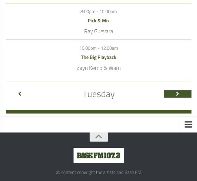 Basefm Shows Schedule Upgrade