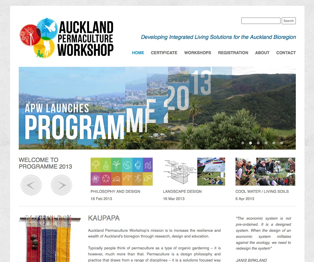 Auckland Permaculture Workshop