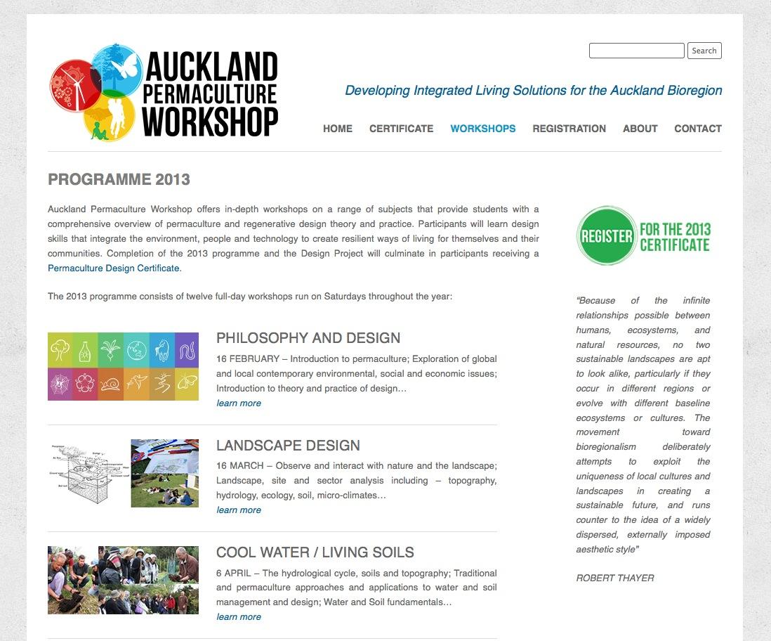 Auckland Permaculture Workshop